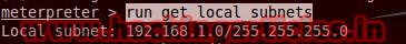 subnet Best Metasploit Meterpreter Script